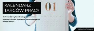 Interaktywny kalendarz wydarzeń związanych z pracą dla osób bezrobotnych